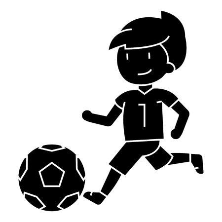 Boy playing football  icon
