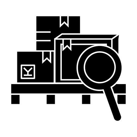warehouse  icon, vector illustration, black sign on isolated background Illustration