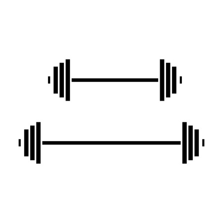 weights  icon, vector illustration, black sign on isolated background