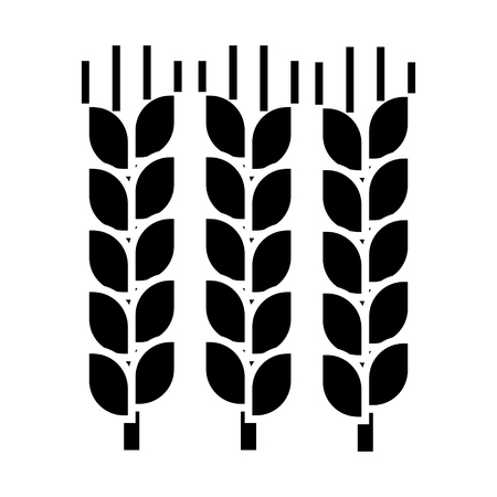 wheat  icon, vector illustration, black sign on isolated background Illustration