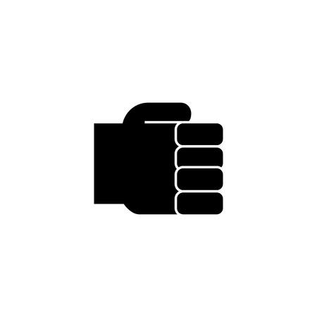 손을 주먹 간단한, 지주 손 아이콘, 벡터 일러스트 레이 션, 검은 색 격리 된 배경에 서명