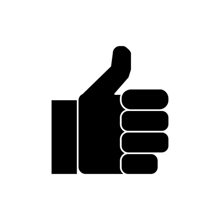 hand thumbs up  icon, vector illustration, black sign on isolated background