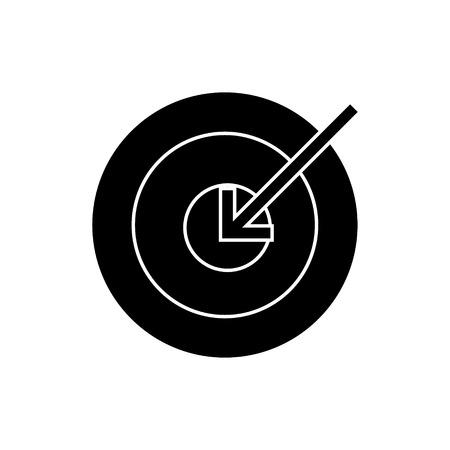 target arrow  icon, vector illustration, black sign on isolated background Illustration