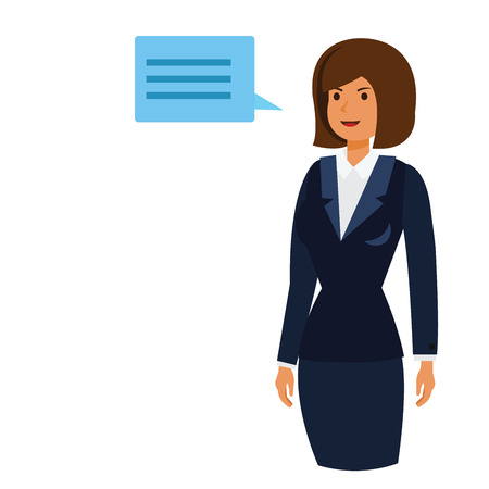 CEO owner woman cartoon flat illustration concept on isolated vector white background