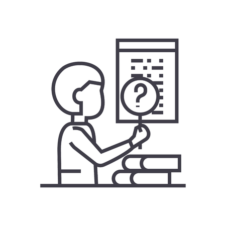 Software testing line icon. Illustration