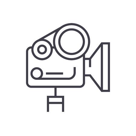 Caméra de film icône de la ligne . Banque d'images - 88397754