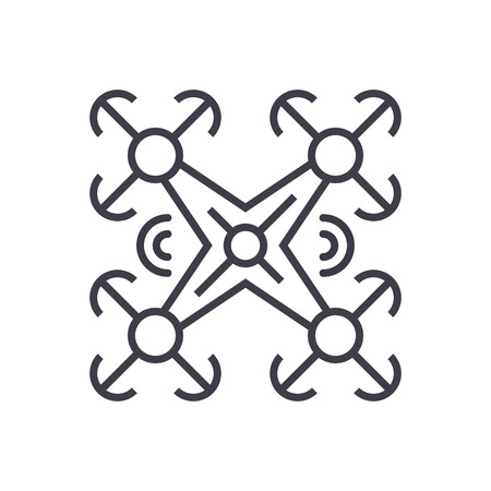 Copter line icon. Ilustracja