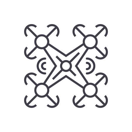 Copter line icon. Illustration