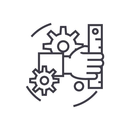 Development line icon.