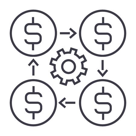 Finanzmanagement-Liniensymbol. Standard-Bild - 88420211