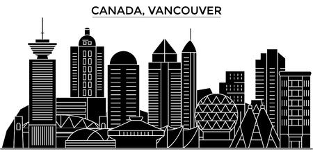 Vancouver architectuur. Stock Illustratie