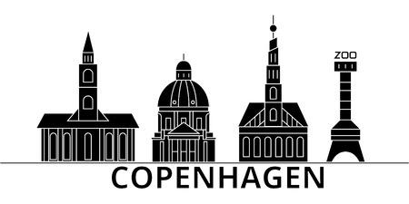 Copenhagen architecture. Stock Vector - 88499989