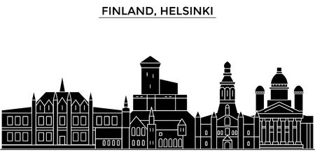 Finland, Helsinki architecture. Ilustrace