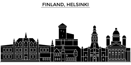 Finland, Helsinki architecture. Illustration