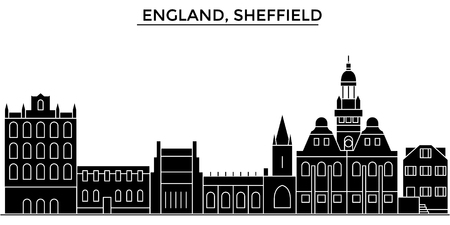 England, Sheffield architecture. Stock Vector - 88500517