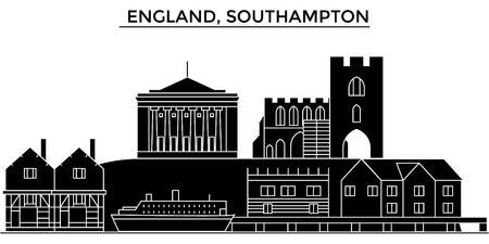 England, Southampton architecture. Illustration