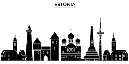 Estonia, Talinn architecture.