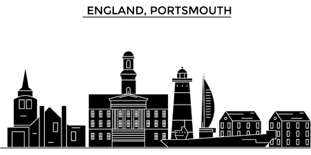 England, Portsmouth architecture.