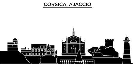 France, Corsica, Ajaccio architecture city skyline