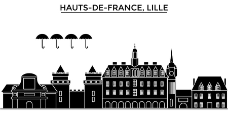 Francja, Hauts De France, panoramę miasta Lille