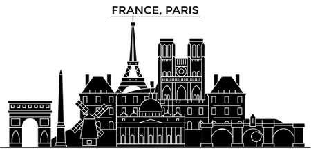Frankrijk, Ile De France. Stock Illustratie