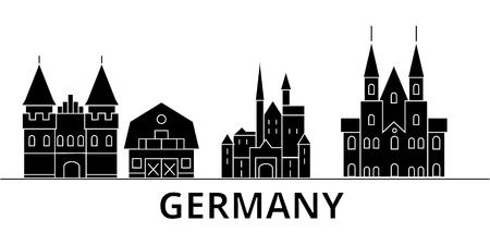 Germany architecture city skyline 向量圖像