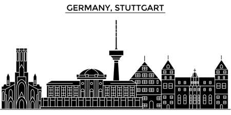 touristic: Germany city architecture illustration.