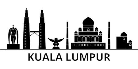 Kuala Lumpur city architecture illustration.
