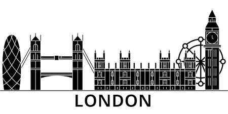Londen stad architectuur illustratie.