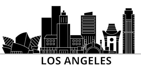 Los Angeles city architecture illustration.