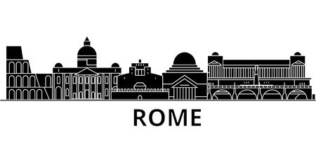 Skyline de cidade de arquitetura de Roma Foto de archivo - 88557901