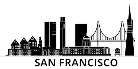 サンフランシスコの建築都市のスカイライン