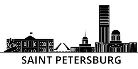 Saint Petersburg architecture city skyline Illustration