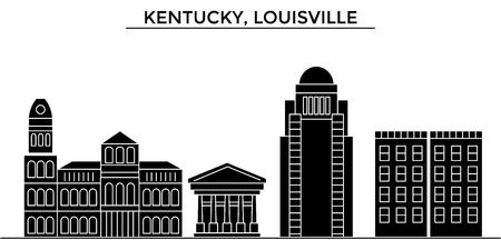 ケンタッキー州ルイビル建築都市スカイライン  イラスト・ベクター素材