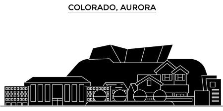 コロラド州オーロラ建築都市スカイライン