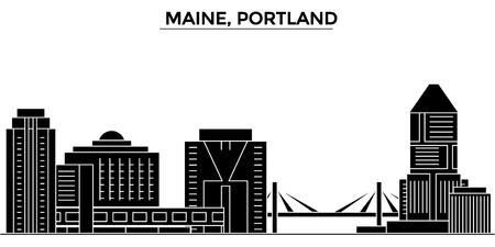 Maine, Portland architecture city skyline