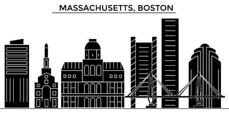 マサチューセッツ州、ボストンの建築都市のスカイライン