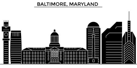 De horizon van de de architectuurstad van Baltimore, Maryland