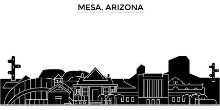 メサ、アリゾナ州建築都市スカイライン