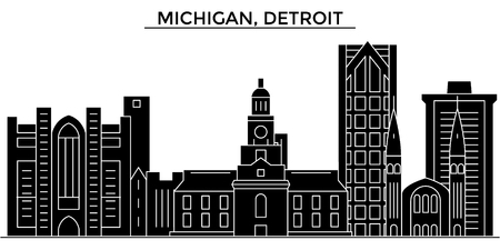Michigan, Detroit architecture city skyline