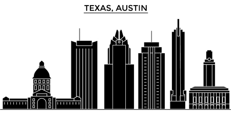 Texas Austin architecture city skyline Illustration