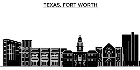 テキサス州フォート ワース建築都市スカイライン