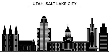 Utah, skyline della città di Architettura di Salt Lake City Archivio Fotografico - 88558076
