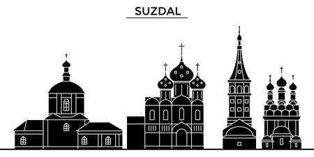 Suzdal architecture skyline with landmarks.