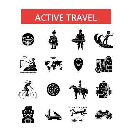 Active travel illustration.