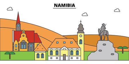 나미비아 개요 도시입니다. 일러스트