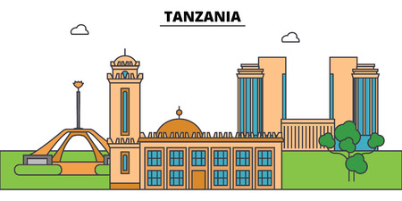 Tanzania outline city.