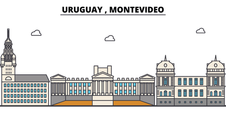 Montevideo outline city.