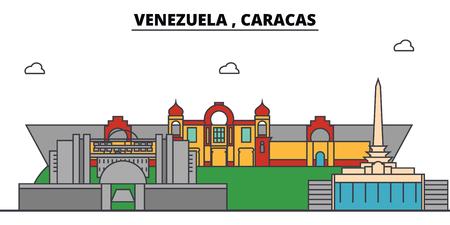Caracas outline city.