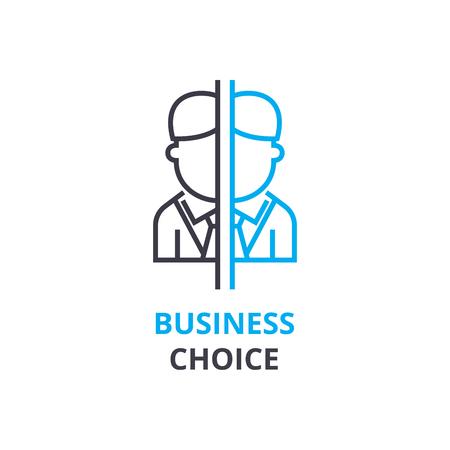 Concept de choix commercial, icône de contour, signe linéaire, pictogramme fine ligne, logo, illustration plate, vecteur Banque d'images - 88772443